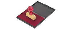Ink pad for normal rubber stamp